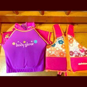 Two Girls Swim Vests